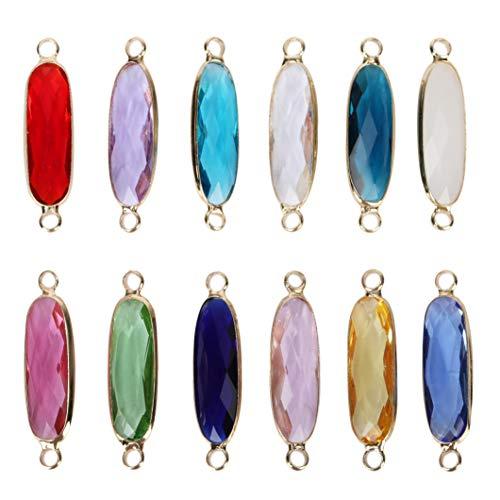 Birthstone Austrian Crystal Rings - 2pcs September Birthstone Charms 21mm Austrian Crystal Beads for Earrings Bracelet Necklace Keychain Jewelry Making CCP9-9