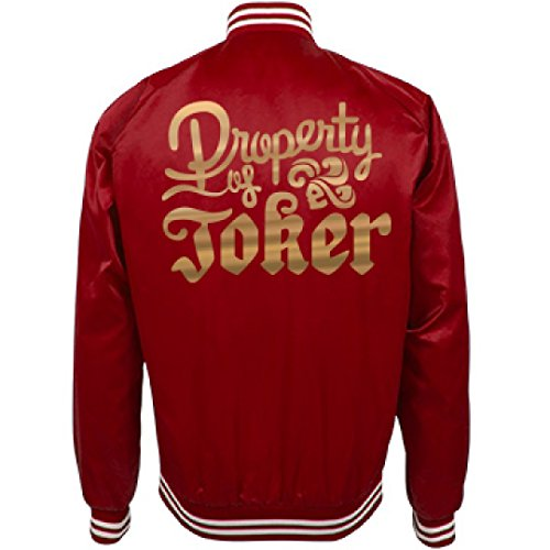 Freaky Couples Halloween Costumes (Harley Quinn Red Costume Jacket: Unisex Nylon Bomber Baseball Jacket)