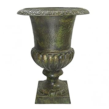 L\'Héritier Du Temps Vase Vasque Jardiniere en Fonte Vert Anglais ...