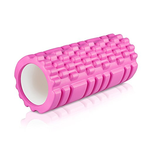 """Enkeeo Foam Roller 13"""" × 6"""" EVA with Grid Design Muscle Rollers for Deep Tissue Myofascial Release, Sports Massage and Recovery, Trigger Point Therapy, Pilates & Yoga, (Foam Muscle Suit)"""