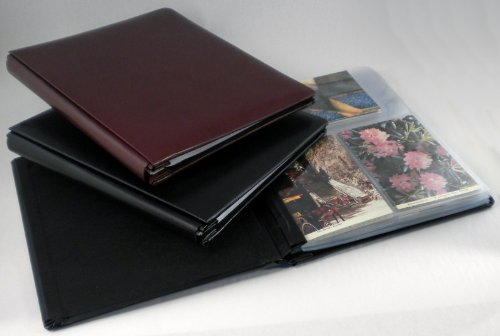 Hobbymaster Postcard Collecting Album, ''Impresse'' Leather Style, Pure Black by Hobbymaster