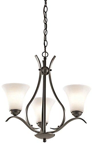 Amazon.com: Kichler Keiran 3-Light lámpara de araña y satén ...