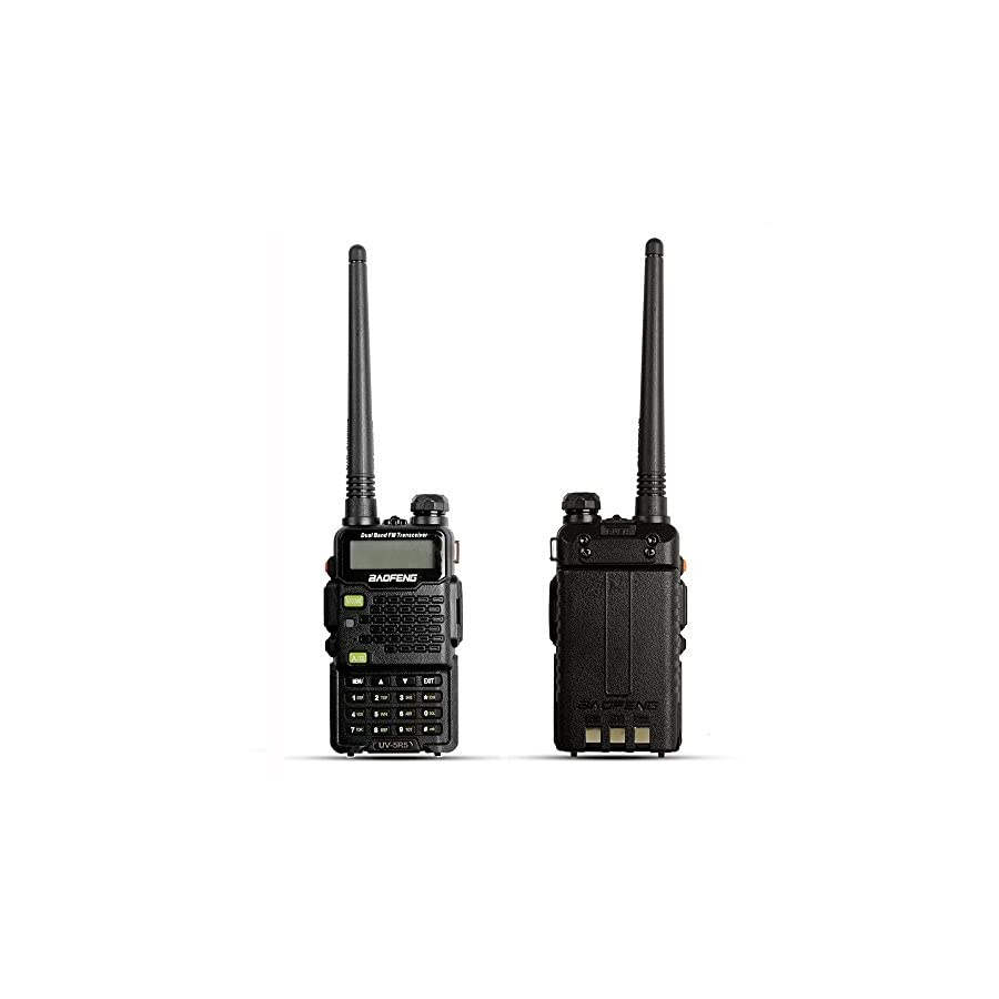 Two Way Radio, Baofeng Walkie Talkie UV 5R5 5W Dual Band Two Way Ham Radio Transceiver UHF/VHF 136 174/400 520MHz...(3 Colors for Optional)