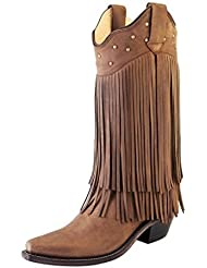 Old West Boots Womens Fringe Boot