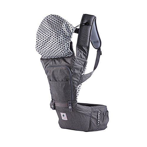 Pognae No 5 Outdoor Organic Baby Hipseat Front Backpack Carrier (Gray)