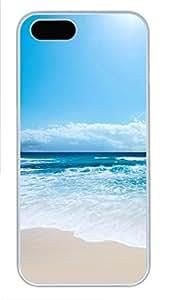 iPhone 5 5S Case Seascape PC Custom iPhone 5 5S Case Cover White