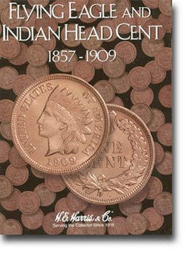 Harris Coin Folder Flying Eagle Indian Cents 1857-1909 – 8HRS2671 by H.E. Harris