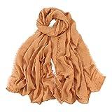 Scarfs for Women Lightweight Soft Cotton Solid Wraps Fashion Scarves Shawls Sunscreen Muslim Hijab Shawl Headband Fudule