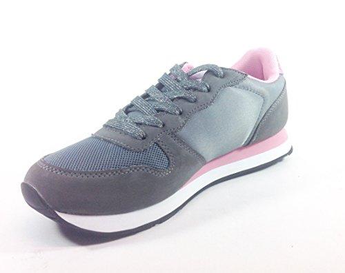 35 de multicolor mujer multicolor cordones gris Material para Sintético de guru Zapatos 1zW40qvw4t