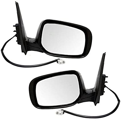 Power Heated Black Rear View Door Mirror Right Passenger Side Fits 06-10 Sonata