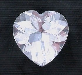 7mm Heart White Topaz Gem Stone Gemstone Faceted -