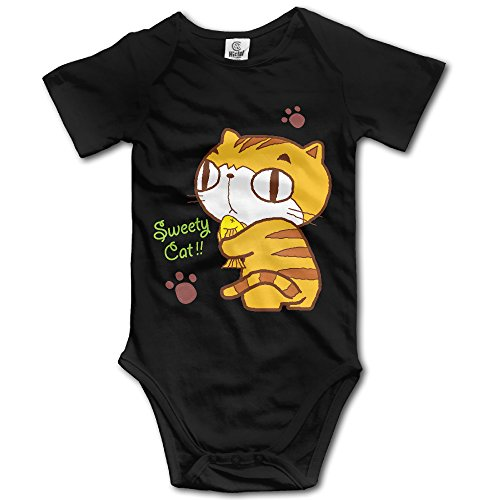 EpE Sweety Cat Climbing Clothes Infant Rompers For Baby 24 Months Black