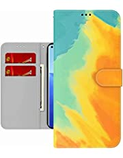 TYWZ Kleurrijke Schilderij Portemonnee Case voor iPhone 6S/6,Aquarel Ontwerp Folio Flip PU Leer met Kaarthouder Slots Stand Functie Cover-Geel