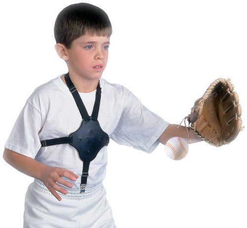 Chest Protection with Straps, Black (Baseball Heart Guard)