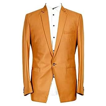 Libas Riyaz Gangji Brown Viscose Blazer For Men