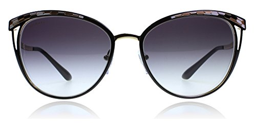 Bvlgari BV6083 20188G Black / Gold BV6083 Cats Eyes Sunglasses Lens Category 3 (Sunglasses Bvlgari)