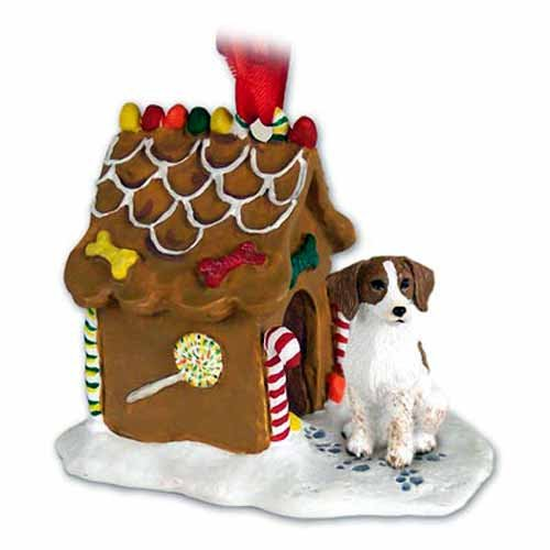 Brittany Gingerbread House Christmas Ornament Brown-White - - Ginger White Ornaments
