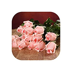 20Pcs/Set Artificial Flowers Latex Flowers White Real Touch Flowers Wedding Bouquet Home Party Decorative Party Flowers 23