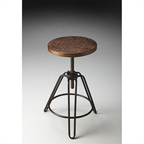 Phenomenal Butler 2050025 Trenton Metal Wood Revolving Bar Stool Machost Co Dining Chair Design Ideas Machostcouk
