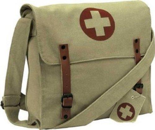 Rothco Khaki Bag Shoulder Red Medic Khaki Cross Vintage Rothco PE8qda