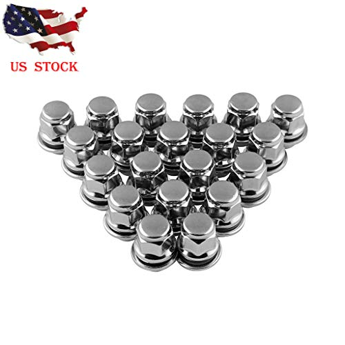(Professional Chrome Silver Bulge Lug Nuts, 20Pcs Wheel Lug Nuts Mag Seat Washer for Lexus Scion Toyota Camry (Silver, 12x1.5))