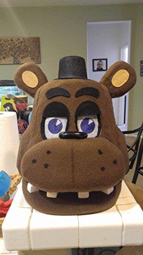 [Freddy Fazbear FNAF Halloween/Costume Mask! Moveable Jaw!] (5 Guy Halloween Costumes)