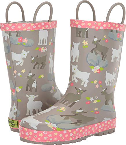 Western Chief Girls' Waterproof Printed Rain Boot with Easy Pull on Handles Around, 11 M US Little Kid -