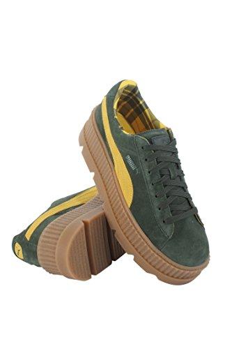 Puma Mens Fenty Di Rihanna Green Cleated Rampicante 36626701 Sneakers Shoes Rosin / Lemon / Vanilla