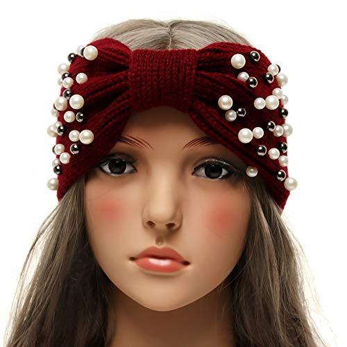 La Carrie Womens Winter Knitted Headband Chunky Crochet Ear Warmer