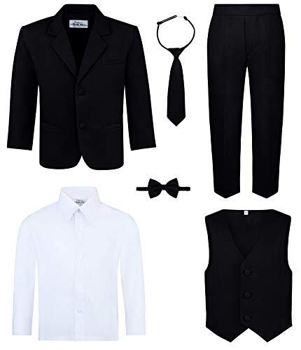 Boy's 6-Piece Suit Set- Black, ()