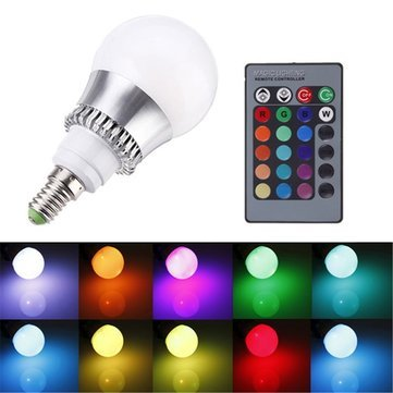 E14 Led Bulbs - Rgb E14 5w Led Bulb Color-Changing Globe Light Lamp + Remote Control Ac 85-265v - Color Changing Light Bulb Bulbs ColoredRemote Color-Changing - Led - ()