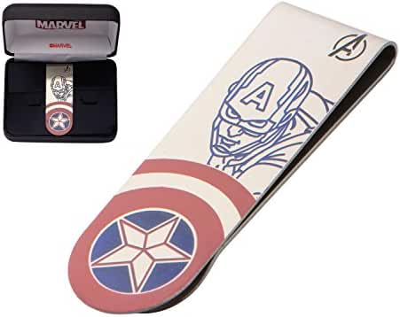 Marvel Avengers Money Clips Stainless Steel Laser Etched Captain America and Iron Man Great Quality