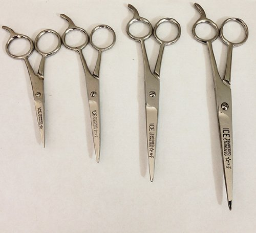 4 Pairs Ice Tempered Stainless Steel Styling Hair Cutting Scissors Barber Trimming Shears 4.5
