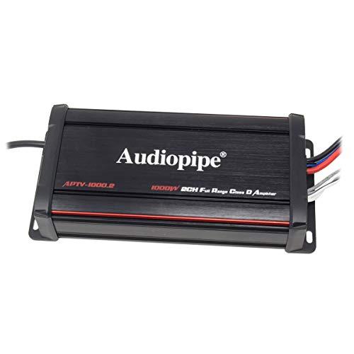 Audiopipe 1000W 2-Ch Micro Amp - Powersports IP67 Waterproof RZR Motorcycle Cruiser UTV Marine Amplifier