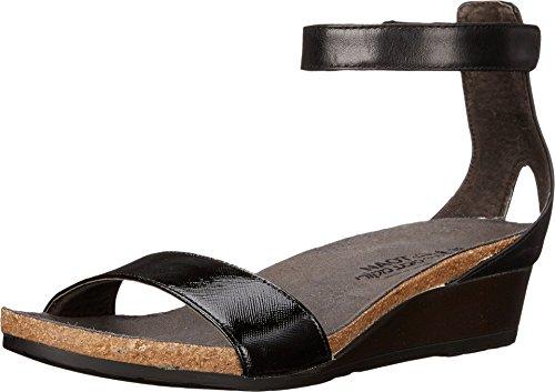 NAOT Women's Pixie Sandal Black Luster/Black Raven/Black Madras Size 38 EU (7.5-8 M US (Black Madras)