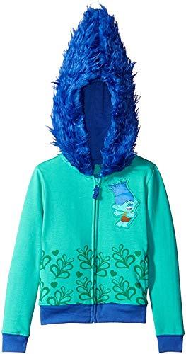 Trolls Girls' Little' Character Costume Hoodie Aqua/Blue L-6X ()