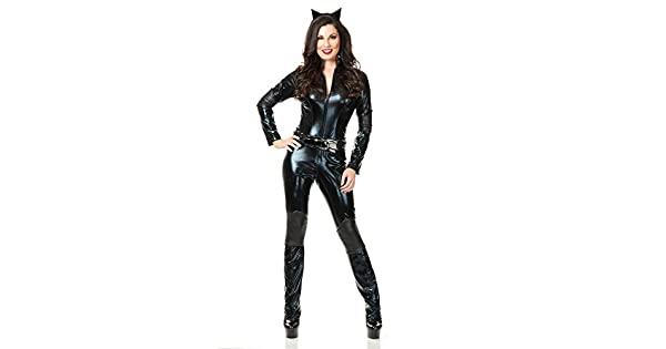 Amazon.com: Charades Sexy Womens traje de superhéroe Cat ...