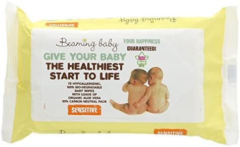 Water Wipes 24 Packs of 20 Wipes Handy Pack Case Purely Baby Aqua
