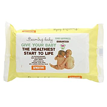 Beaming Baby Sensitive Organic Baby Wipes Case of 12