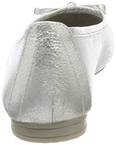 Donna Ballerine White Silver Argento Softline 22164 YB6UxE