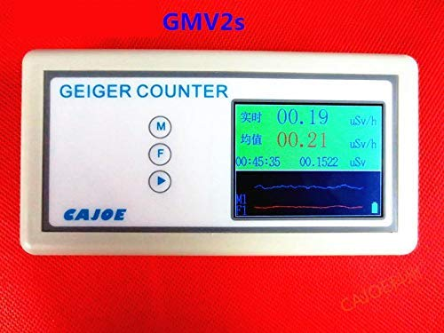GMV2s Hand-held Geiger Counter with Time Recording,High Accuracy 0.01/μSv//h Nuclear Radiation Detector for Home//Industria