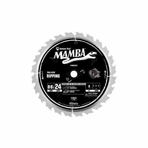 (Amana Tool Mamba Series MA8024 Thin Kerf Ripping 8-Inch to 8-1/4-Inch x 24 Tooth x FT Grind 5/8-Inch Bore with Diamond Knockout Saw Blade)