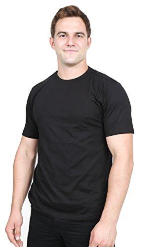 Men's Cotton Tee (S, Black) by Utopia Wear