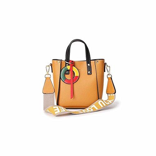 Tassel Brown Moda Nueva verano bag bucket Shoulder Khaki Satchel 2012 Bag fRwqY6w