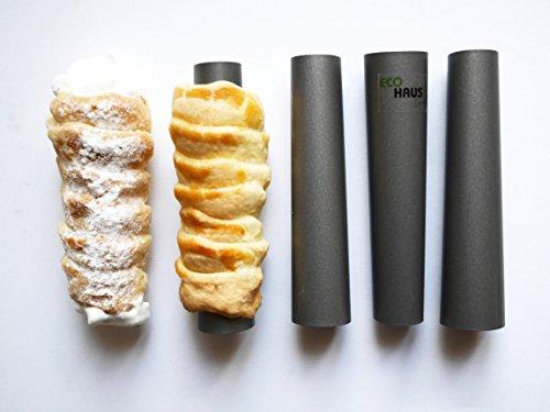 Eco Haus Living Premium Cannoli Form Mold / Set of 4 Non-stick coating 5.1