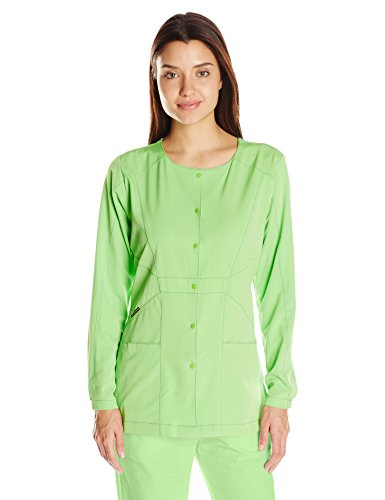 WonderWink Hp Prism Snap Front Women's Scrub Jacket, Green Apple, X-Large