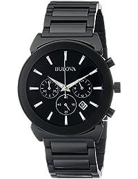 Men's 98B215 Analog Display Japanese Quartz Black Watch