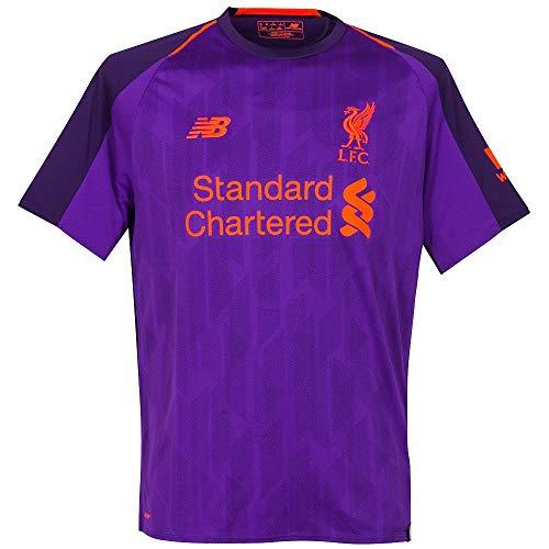 56b4692465b Liverpool Men s 2018 2019 Away Soccer Jersey (Small) Deep Violet