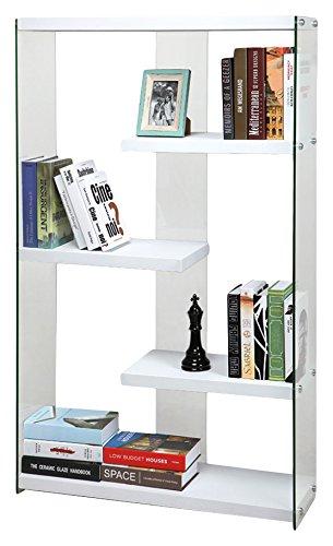 Cribel Pocket Libreria, Legno Multistrato/Vetro Temperato, Laccato ...