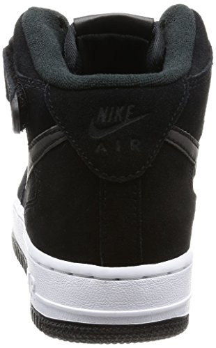 Nike Air Force 1 07 Mid Season Basketbalschoen Zwart / Zwart / Wit